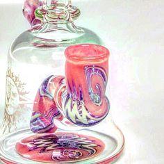 Two posts back!! Auction ends at 10pm tonight EST!! #auction #october #pink #cancer #breastcancerawareness #headyart #glass #glassart #headyglass #glassofig #wonderland #handmade #style #art #fuckcancer #cancersucks #breastcancer #rustyglass