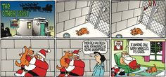 The Other Coast Comic Strip, December 22, 2013 on GoComics.com  What a good example Santa is setting for us all!  Head on down to those shelters and give a lonely pet a loving home.