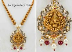 south jewellery temple necklace designs - Google Search