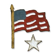 Sizzix - Tim Holtz - Movers and Shapers Die - Alterations Collection - Die Cutting Template - Mini Old Glory Set at Scrapbook.com $15.99