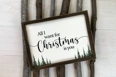 All I Want For Christmas Is You Christmas Print PRINTABLE | Etsy Christmas Poster, Christmas Print, Family Print, International Paper Sizes, Christmas Cards To Make, Tree Print, Xmas Decorations, Watercolor Print, As You Like