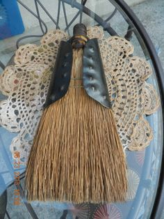 Items similar to Antique Whisk Broom with a hand crafted metal holder. on Etsy Broom Corn, Witch Broom, Primitive Antiques, Country Primitive, Straw Broom, Brooms And Brushes, Whisk Broom, Broom Holder, Willow Wood