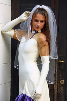 latex wedding catsuit from #LatexCrazy dot c o m This is a one piece rubber suit and available in more than 100 different colors and shapes of Radical Rubber and FourD.