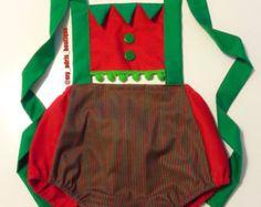 Christmas Santa Romper by MyAdrisBoutique on Etsy