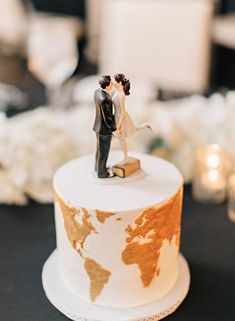 Wedding Themes 20 Travel Inspired Wedding Details for the Adventurous Couple - Inspired By This - This inspiration showcases 20 couples who incorporated travel inspired wedding details into their special day - perfect for a destination wedding! Wedding Cake Designs, Wedding Themes, Wedding Tips, Trendy Wedding, Wedding Couples, Wedding Details, Perfect Wedding, Wedding Planning, Dream Wedding