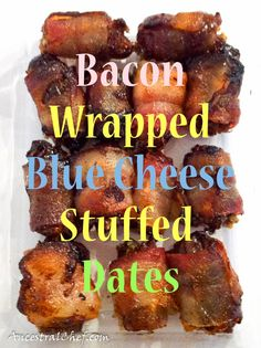Bacon Wrapped Blue Cheese-Stuffed Dates