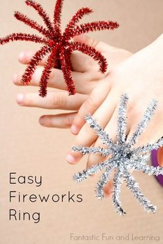 You can also make fireworks rings. | 19 Creative And Fun Ways To Celebrate New Year's Eve With Kids