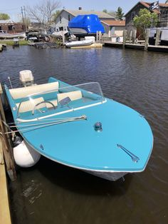Runabout Boat, Boat Restoration, Classic Wooden Boats, Blue Boat, Vintage Boats, Old Boats, Michigan Travel, Boat House, Yacht Boat