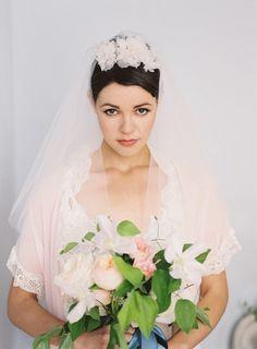 Beautiful vintage inspired veil