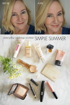 Simple summer everyday makeup routine