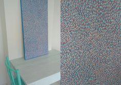 FarAndAwayArt: Petals {Salmon Pink & Blue} Pink Blue, Salmon, Paintings, Rugs, Home Decor, Farmhouse Rugs, Decoration Home, Paint, Room Decor