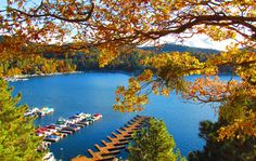Lake Arrowhead, autumn