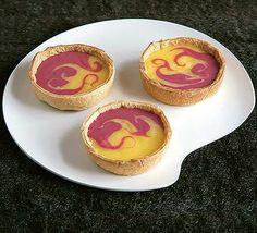 Lemon and Raspberry Curd Tarts.