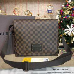 Louis Vuitton N51211 Brooklyn MM Messenger Bag Damier Ebene Canvas 106265d3ff629