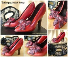 Chocolate Stiletto Shoes - small, medium and large - single or pairs - bespoke - personalised - made to order