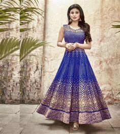 #Nagin Fame, Designer Salwar suit for this Rakhi festival. Gift to your loving sister this stunning designer suit.  Shop Online at www.ethnicfiesta.com   Suit Length : 42 #Rakhisale #salwarsuit #salwarkameez