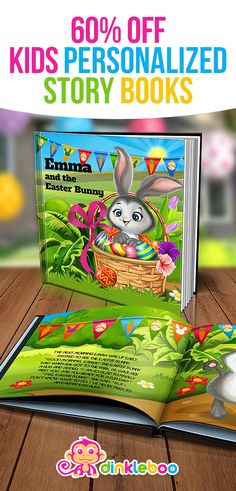 Easter basket for 2 year old toddler easter pinterest easter personalize your easter basket with this cute personalized story book your child receives a special negle Choice Image