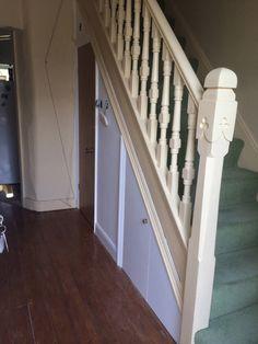 Painting Work With Bathroom Installation In Leeds Door Under Stairs, Bathroom Under Stairs, Small Vanity Unit, Understairs Toilet, Small Toilet Room, Back To Wall Toilets, Toilet Cistern, Bathroom Installation, Downstairs Toilet
