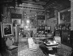 """""""Living room, Mrs. George Stephen's house, Montreal, QC, 1884"""" Victorian Style Decor, Victorian Life, Victorian Interiors, Vintage Interiors, Victorian Homes, House Interiors, Empire House, Trois Rivieres, Of Montreal"""