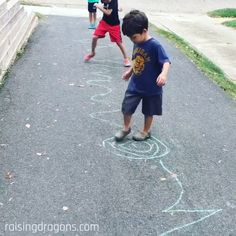 Follow the Line is a fun, outdoor activity that is great for gross motor skills and takes only a few minutes to set up! #outdoorfun #preschool #grossmotor #kindergarten Kids Bedroom Sets, Kids Songs, Musicals, Entertainment, Rugs, Painting, Home Decor, Children Songs, Farmhouse Rugs