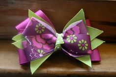 Grape Limeade Hair Bow by MariasBowTique on Etsy, $3.75