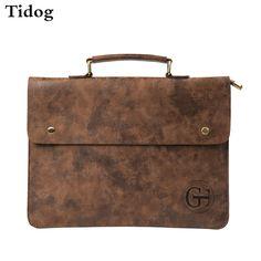Tidog Crazy horse leather briefcase thin fashion Korean male Bag business bag #Affiliate