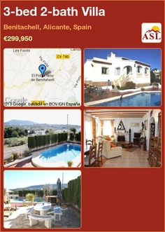 3-bed 2-bath Villa in Benitachell, Alicante, Spain ►€299,950 #PropertyForSaleInSpain