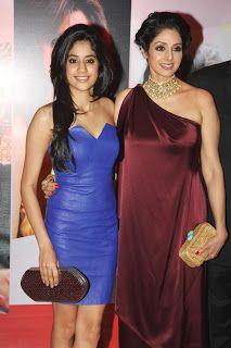Sridevi and Jhanvi Kapoor at The Hindustan Times Style Awards.