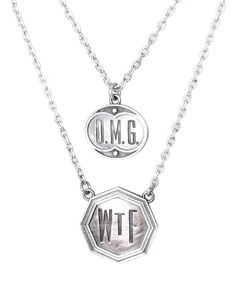 Metta Metalworks — OMG WTF Silver necklace
