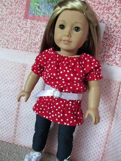 18 Inch Doll Outfits Red/White Trendy by EverythingNice4Dolls