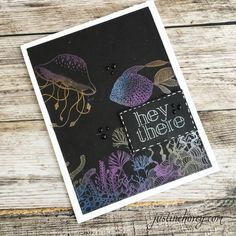 Simon Says Stamp Stamptember 2017 Release Under the Seas Stamp with Perfect Pearls