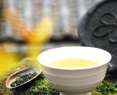 Cup of brewed Korean green tea