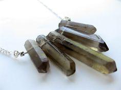 inspiration:  smokey quartz necklace.  (i have made one similar to this).