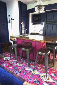 Rv Interior, Camper Makeover, Boho Kitchen, Remodeled Campers, Boho Fashion, New Homes, Trailer Diy, Trailer Decor, Trailer Remodel