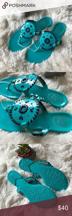 [Jack Rogers] Georgica Jelly Sandals Georgica Jelly Sandals Size 7 Caribbean blue with navy detail New without tags - never worn, no flaws Jack Rogers Shoes Sandals