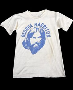 1970's George Harrison Tee XS Vintage Outfits, Vintage Clothing, George Harrison, Vintage Tees, 1970s, Fashion Shoes, Fashion Beauty, Graphic Tees, Tee Shirts