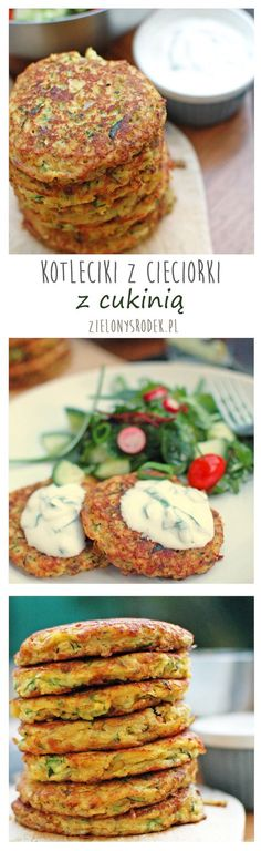 Kotleciki placki z cieciorki (ciecierzycy) z cukinią. Bezglutenowe Baby Food Recipes, Diet Recipes, Vegetarian Recipes, Cooking Recipes, Healthy Recipes, Healthy Cooking, Healthy Eating, Zucchini, Good Food