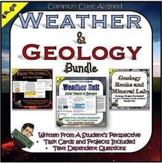 In this Earth Science bundle, you get a weather and geology unit written from a student's perspective. The students will be engaged while reading yet challenged with the text dependent questions and hands-on projects.