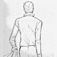 いいね!18件、コメント1件 ― 福田素子さん(@fukudamotoko)のInstagramアカウント: 「背中に表情ある人いいですな #illustration #drawing #イラスト #後ろ姿 #もと #もとp #ダンディ」