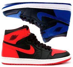 Homme Air Jordan 1 OG AJ1 Noir/Rouge