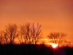 Christmas Sunset | A Homespun Country Life