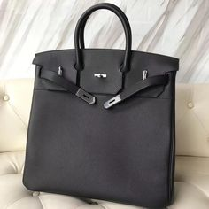 d74d5b521614 Hermes Haut A Courroies (HAC) 40 CM Bag Black Epsom Leather #FW2018 #