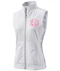 Pea Pod Paper and Gifts White Monogrammed Breeze Vest - Clothing - Initial Me! - NEW!