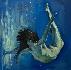 Under water Art Print Freedom Girl, Classical Realism, Samurai Armor, Water Art, Oil On Canvas, Painting Canvas, Fine Art Paper, Mythology, Saatchi Art