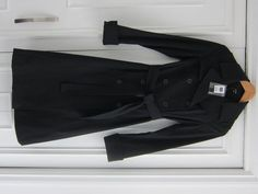 Available @ TrendTrunk.com Brand New Jacob XS Black Trench Coat. By JACOB . Only $50! Trench Coats, Blazers, Brand New, Money, Black, Fashion, Moda, Black People, Fashion Styles