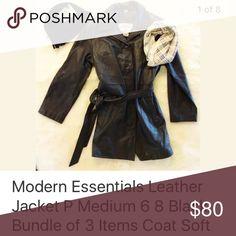 Selling this Modern Essentials Leather Jacket Petite Medium on Poshmark! My username is: star_power. #shopmycloset #poshmark #fashion #shopping #style #forsale #Modern Essentails #Jackets & Blazers