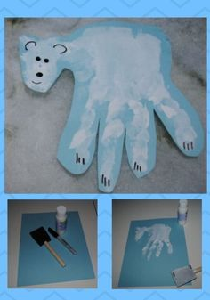 27 Fun Christmas Craft Ideas For Preschoolers 2019 Polar Bear Handprint Christmas Craft Ideas For Preschoolers Fun Christmas, Christmas Crafts For Kids, Christmas Decorations, Holiday Crafts, Daycare Crafts, Classroom Crafts, Winter Crafts For Toddlers, Christmas Handprint Crafts, January Crafts