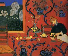 The Dessert: Harmony in Red (1908), Ανρί Ματίς. Κύριος εκπρόσωπος του Φωβισμού.