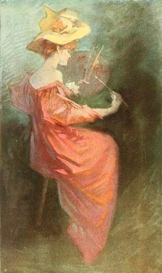 La Peinture by Jules Chéret (1836 - 1932) ✿⊱╮