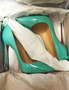 Emmy DE * Christian Louboutin #turquoise  You say YES to anything Christian Louboutin!